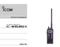 Handheld VHF manual Icom IC-M1